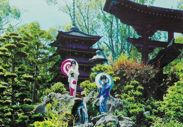 Japanese Tea Garden San Francisco Ladies Waterfall Postcard