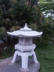 Japanese Stone Lantern at Gasho of Japan Hibachi Steakhouse Hauppauge New York