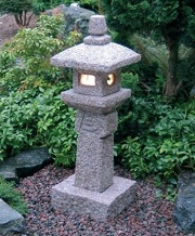 Oribe Japanese Granite Stone Lantern for sale by NVA Creative Garden Granite
